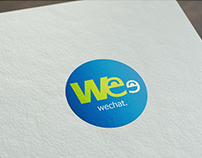 Wechat Rebranding Stationary/Logo design