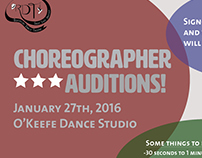 RDT Choreographer Auditions Spring 2016
