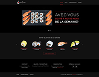 O Sushi Bar Restaurant Website Design