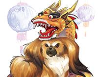 Majestuous Pekingese dog!