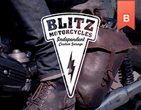 BLITZ MOTORCYCLES LOGO AND IDENTITY