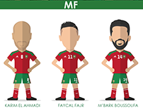 Flat Design Team Morocco Can 2017