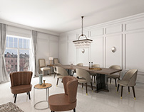 Interior Design-Living and Dining Room In One