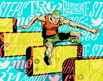 Sunday Times Illustration: Fitness Obsession