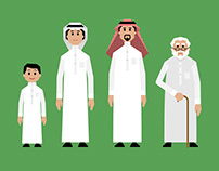 Arab Family Set for Motion Graphics