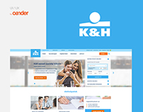 K&H Bank website redesign