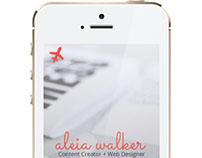 Portfolio Site (Mobile Version)