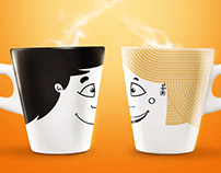 Ilustrações Café 3 Corações