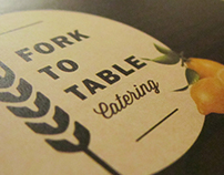Fork to Table - Branding