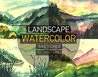 Watercolor Landscape Sketches