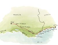 A piedi da Genova ad Arles