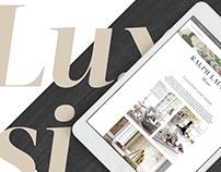 Riis Interiør - Rebranding, nettside og brosjyre
