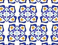 Pattern 'Old Italian tiles'