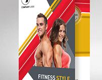Gym Fitness Workout Folder Design 2fold A4 Size Creativ