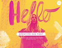 Hello Monday SVG Brush Script font