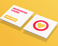 Square Business Card Mockup Free Psd Download