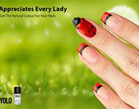 YOLO nail hardener poster ad