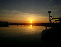 sunset on rockport bay