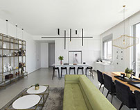 White Penthouse by OMY Design