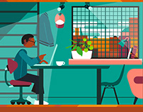 Working From Home Animation