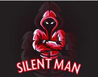 silent man logo