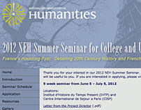 2012 NEH Summer Seminar Website