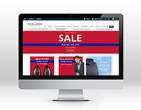 Mos Bros. home page concept