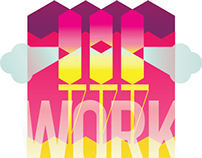 Work Hard - digital illustration, desktop wallpaper