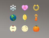 Seasonal Illustrated Icons