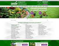 Creating of web-site for Russkiy instrument. Moscow