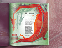 Dragonfly Magazine illustrations for children V.