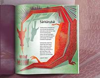 Dragonfly Magazine illustrations for children V.