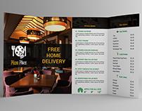 4 Fold Pizza Place Brochure