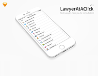 Lawyer At A Click - iOS UI Design