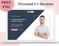 MyPress - Free Personal CV/Resume PSD Template