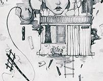sketches line art