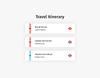 Daily UI | #079 | Itinerary