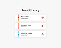Daily UI   #079   Itinerary