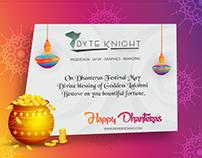 Happy Dhanteras | Festival Banner Design Byteknight