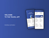 Travel app interface animation