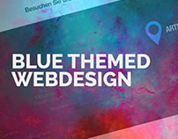 Flat Webdesign - BLUE ARTHOUSE