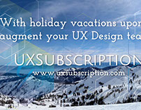 UXSubscription - Holiday vacations, augment your team
