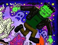 Illustration for online halloween music mix