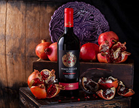 Pomegranate Wine Label Design - Grante