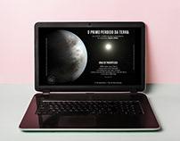 Arte para Web sobre o dia da Astronomia