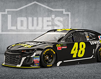 3D Realistic Render of #48 Lowes For Pros Car
