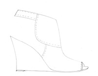 Contemporary Shoes- Technical Sketches