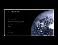 Azercosmos website redesign