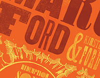 Marc Ford - Wood Type - Concert Poster