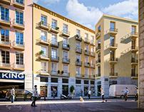 Building Restoration - Barcelona Spain